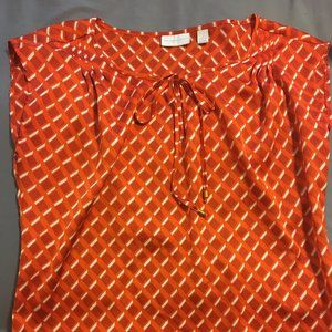 NY&Co orange silky blouse